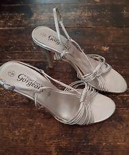 Ladies New Look Silver High Heels Size 3