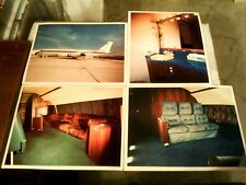 """LOT OF 8 ELVIS PRESLEY'S AIRPLANE THE """"LISA MARIE"""" 8x10 COLOR PHOTOS TCB PLANE"""