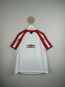 Vintage Umbro T Shirt White And Red 90s Umbro Spellout Tee