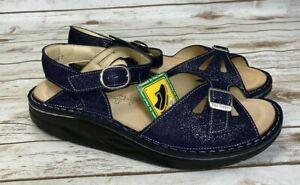 Finn Comfort Finnamic Women's Motomachi Sandal - Glitter Atoll Blue NWB