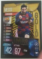 2019/20 Match Attax UEFA Soccer Card - Lionel Messi Gold Limited Edition LE13