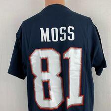 Mitchell & Ness Randy Moss New England Patriots Jersey T Shirt NFL Throwback L