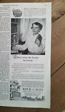 1952 Rock of Ages Barre Vt granite  burial monuments books he loved ad