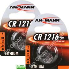 2 x Ansmann CR1216 3V Lithium Coin Cell Battery 1216 DL1216 KCR1216, BR1216