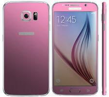 Con Textura Skin Wrap Adhesivo Para Samsung Galaxy S6 Carbono calcomanía Funda Metal Mate