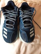 Fabulous adidas basketball pro boots/shoes blue   - size 6 uk size