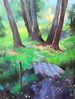 Emiliya Lane oil painting original signed contemporary impressionism