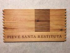 1 Rare Wine Wood Panel Pieve Santa Restituta Vintage Crate Box Side 6/18 373