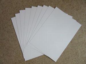 A4 GLOSS WHITE PVC 210 X 297 X 220MIC, MODELLING, SCREEN PRINTABLE, SIGNAGE