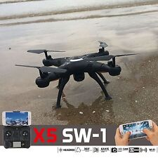 Hot X5SW -1 Wifi FPV dron 2.4G RC Quadcopter Drone mit HD-Kamera RTF Schwarz UAV