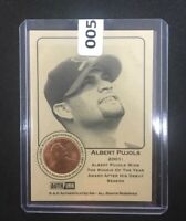 ALBERT PUJOLS St Louis Cardinals 2001 Uncirculated Penny Insert Trade Card Rare!