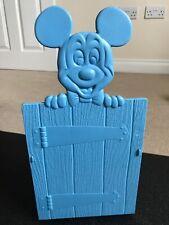 Vintage Disney mickey mouse Blue Plastics bookends X2