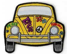 Hippie Bug Car Embroidered Patch Sew On Iron on Patch Peace Love