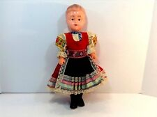 """Vtg=Scandinavian Doll=In A Dancing Pose On Tip Toes=Authentic Clothing=12""""-Tall"""