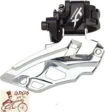 SHIMANO XT M786 10-SPEED DOUBLE DUAL PULL MULTI-CLAMP MTB FRONT BIKE DERAILLEUR