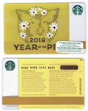 2019 - Year of the Pig Starbucks CANADA RELOADABLE GIFT CARD