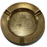 Vintage Pennzoil Ashtray Brass Joseph R Bull North East PA Unique