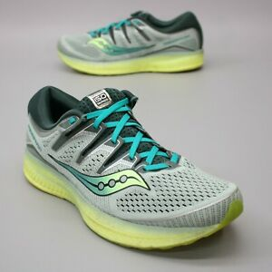 Saucony Men's 12 Triumph ISO 5 Series Mesh Gray Teal Running Sneakers S20462-37