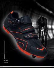 MTB Mountainbike Rennrad Schuhe SPD Klick Pedale Größe 43 *Rot Schwarz*