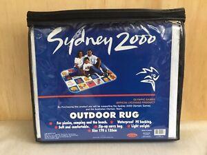 Sydney 2000 RARE Outdoor Picnic Rug In Zip Up Carry Bag 170cm x 135cm New