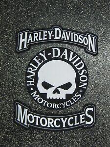 Harley-Davidson Motorcycle - Harley Davidson Willie G Skull Patch Set
