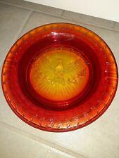 New listing Vintage L.E. Smith Amberina Red Yellow Orange Glass Cigar Eagle Ashtray