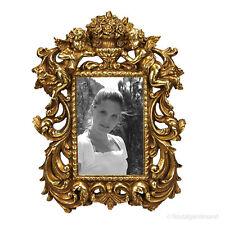 Rokoko Barock Bilderrahmen Fotorahmen Engel Farbe Gold 10x15 Stil Vintage Antik