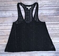 American Eagle Outfitters Tank Top Black Lace Size Medium