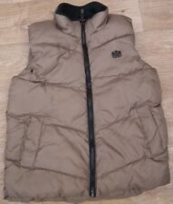 NEXT BOYS 7 YEARS 122CM GOLD PUFFA GILET VEST BODYWARMER FLEECE LINED JACKET