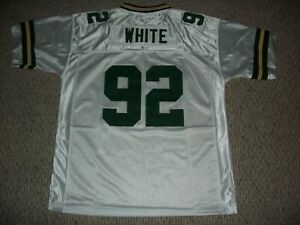 REGGIE WHITE Unsigned Custom Green Bay White Sewn New Football Jersey Size S-3XL