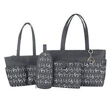 Clevamama Nicole Tote Changing Bag Set Asphalt