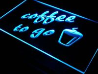 s016-b Coffee to Go Shop Bar Pub Neon Light Sign