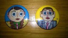 Official Frank Sidebottom & Little Frank Badges For Sale. Free Postage.