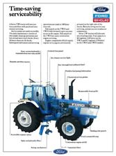 FORD TRACTOR TW35 SERVICE CHART NEW HOLLAND SALES BROCHURE/POSTER ADVERT A3
