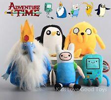 5X Adventure Time Finn Jake Beemo BMO Ice King Gunter Penguin Plush Toy Doll NWT
