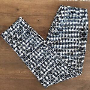 Pantaloni fantasia Zara taglia circa S con Motivo Nero Bianco E Blu