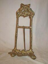 """ornate vintage brass frame easel holder stand antique style 13"""" decor *"""