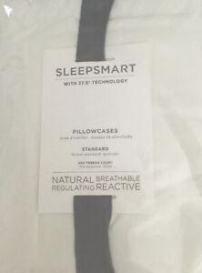 Pottery Barn Sleepsmart 37.5 STANDARD Pillowcases White NIP!