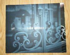 NOS 2001 Park Avenue By Buick Original Car Sales Brochure Catalog