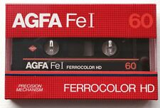 AGFA FeI 60 Ferrocolor HD audio cassette (New & Sealed)