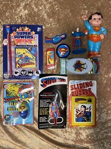 Vintage Rare D.C. Superman Collectables Trinkets 10Pc. Lot
