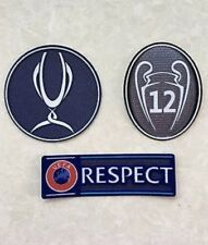 Set Of UEFA Super Cup Trophy 12 Respect Patch Badge For Real Madrid Jersey