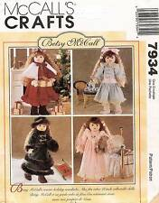 """McCall's Betsy Doll Clothes Pattern 7934  Size 18"""" UNC"""