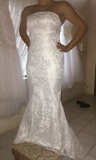 Unbranded Lace Sleeveless Mermaid Trumpet Wedding Dresses