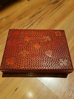Vintage 2 Decks Cape Shore Playing Cards and Wooden Box Two Deck Set Complete