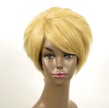 perruque afro femme 100% cheveux naturel courte blonde ref WHIT 03/22