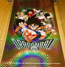 "Dragon Ball Z DBZ Poster HOLO Foil 1999 Vintage RARE 34"" x 22"" NEW AUTHENTIC"