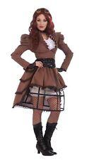 ladies steampunk fancy dress costume size 14 16 cosplay hoop skirt