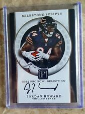JORDAN HOWARD 2017 PANTHEON MILESTONE SCRIPTS 1/1 JERSEY # 24/99 ON CARD AUTO