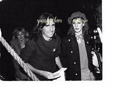 Vtg Celebrity Photo Black White Alice Cooper and Wife Sheryl Goddard